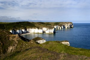 Flamborough Cliffs 3: Yorkshire coastline between Filey and Bridlington in England