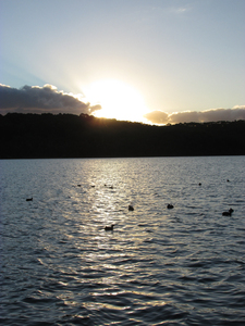 Sunset at Lysterfield Lake: Lake Lysterfield is a popular destination for water activities. This picture is taken during one sunset in winter