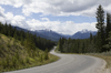 Rural road: A rural road in the Rocky Mountains, Canada.