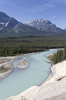 River in the Rockies: The Athabasca River, Rockies, Canada.