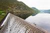 Dam: A dam in the Elan Valley, Wales.