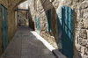 Old alley: An alley in the old city of Akko (= Acre), Israel.