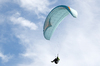 Hang-glider: A hang-glider on the South Downs, Sussex, England.