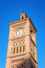 Clock tower: Clock tower of the railway station at Toledo, Spain.