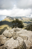 Wild mountains: Mountains in northern Majorca, Balearic Islands, Spain.