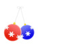 Christmas decorations graphic: Graphic of Christmas tree decorations.