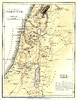 Old map: An old map of mediaeval Palestine from The Commentary Wholly Biblical, 1856, copyright expired.