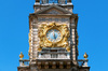Clock tower: A clock tower at Cliveden House, Buckinghamshire, England. Photography of the exterior of this National Trust property was freely permitted.