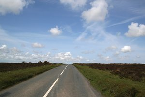Open Road: A road over moorland in southwest England.