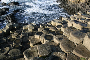 Giant's Causeway 1: Hexagonal basalt columns of the Giant's Causeway, Northern Ireland