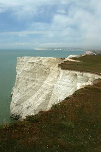 Chalk Cliff: A chalk cliff face on the south coast of England.