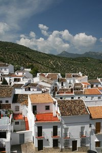 Spanish village 2: A village in the hills of Andalucia, Spain.