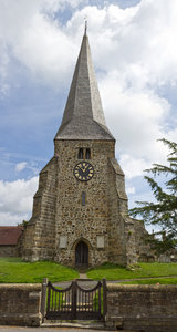 English Church: An old church in Sussex, England. Two image photomerge.