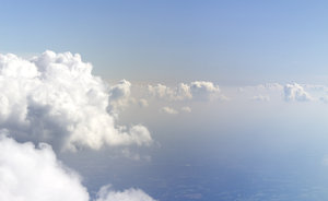 Ethereal clouds: Clouds as seen from an airliner.