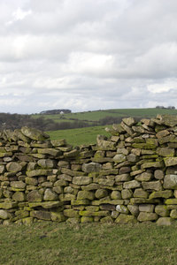 Old drystone wall: An old drystone wall in northern England.