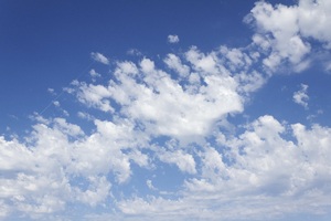 Summer sky: Fine summer cloud in Spain.
