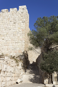 Jerusalem wall: Part of the defensive wall of the Old City of Jerusalem.