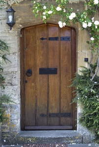 Old door: An old door in a village in Wiltshire, England.