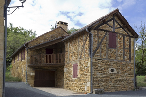 Rustic buildings: Rustic buildings in the Dordogne, France.