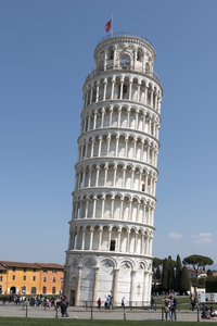 Leaning Tower of Pisa: The Leaning Tower of Pisa, Italy.