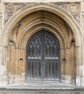 Cathedral doors: Doors of Norwich Cathedral, Norfolk, England. Photography in this area was freely permitted.