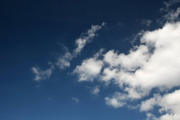 Clouds like cottonwool: Summer clouds in England.