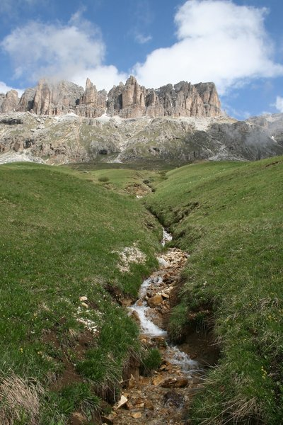 Mountain stream: A stream in the Dolomite mountains, Italy.