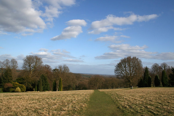 High Weald: Landscape of the High Weald, West Sussex, England, in spring.