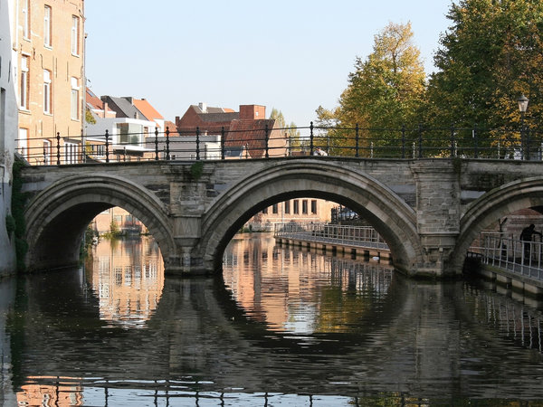Belgian bridge: An old bridge in Belgium.