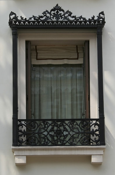 Elegant window 2: Window of a town flat in Italy.