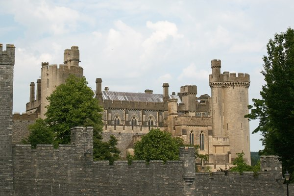 Arundel Castle: The castle at Arundel, West Sussex, England.