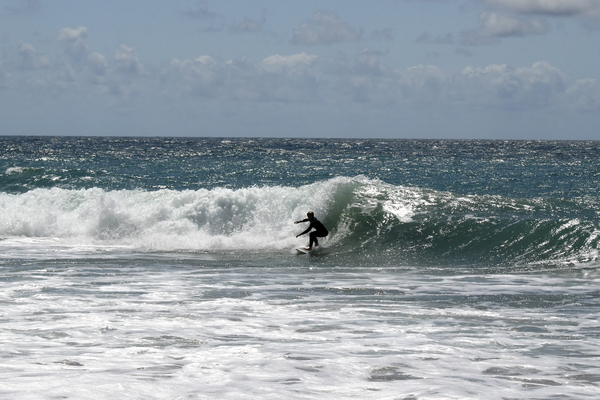 Surfing: A surfer in southern Spain.