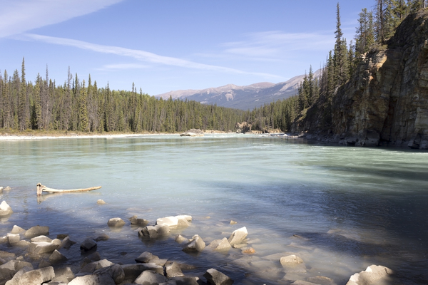 River: The Athabasca River, Canada.