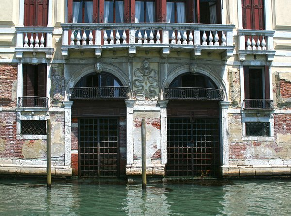 Watergates in Venice: Watergates into a canal-side villa in Venice.