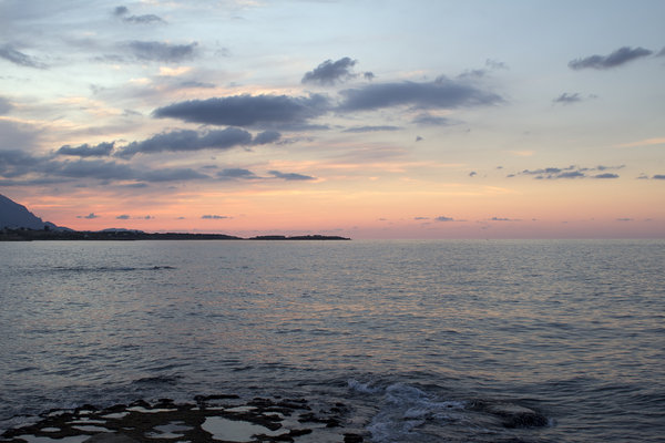 Coastline at dusk: Coastline of Cyprus at dusk.