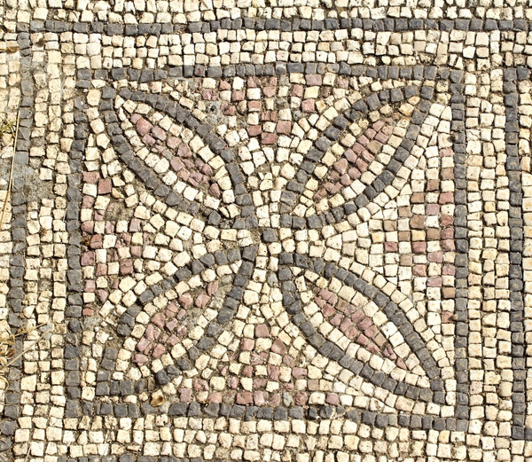 Ancient church mosaics 10: Mosaics in the ruins of the 6th century basilica at Aya Trias, Sipahi, northern Cyprus.