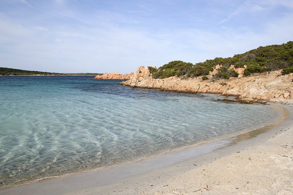 Summer sea and beach: A fine beach in the Maddalena Islands, Sardinia.