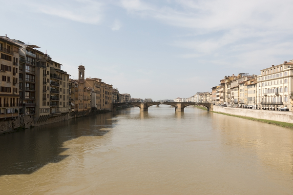 Urban river: The river Arno in Florence, Italy.