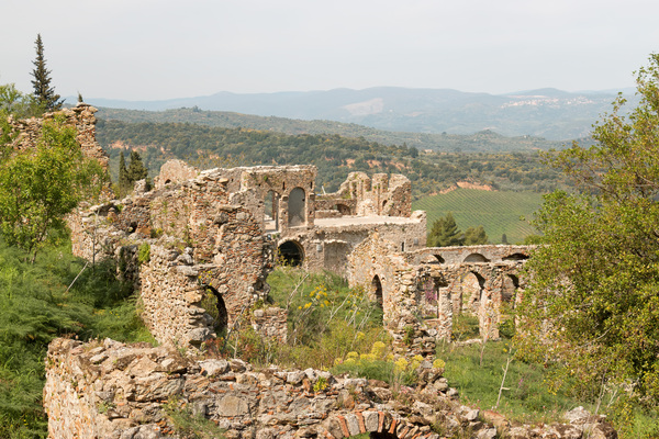 Ancient ruins: Ancient ruins at Mystras, Greece. Photography at this UNESCO World Heritage site was freely permitted.