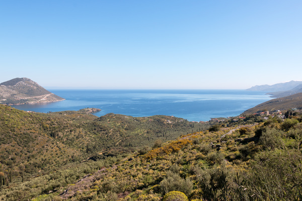 Greece landscape: Coastal landscape in southern Greece.