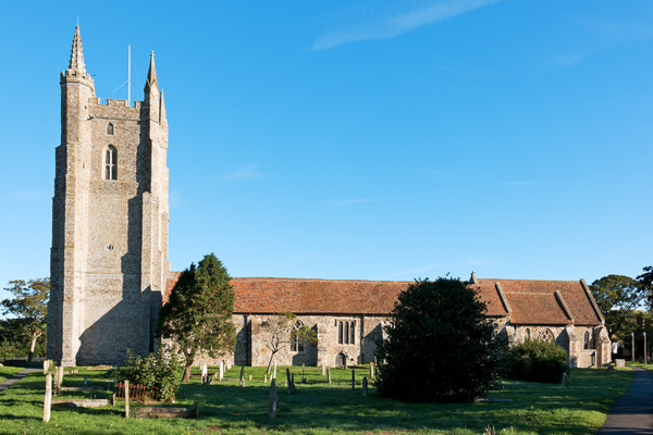 Old church: An old parish church in Kent, England.