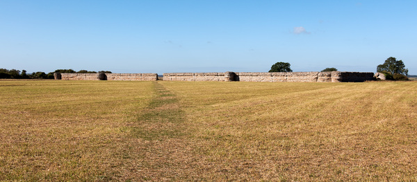 Ancient Roman fort: Burgh Castle, the remains of a large 3rd Century Roman fort, in Norfolk, England. Photography of this area was freely permitted.