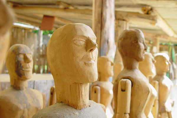 > Arte: Esculturas na oficina, Tiradentes, Bichinho, Minas Gerais, BrasilSculptures in the workshop, Tiradentes, Bichinho, Minas Gerais, Brazil