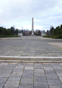 Soviet Military Cemetery: A landmark of communism time. Warsaw, Poland.