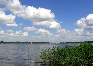 A view on a lake: A view on Zalew Zegrzynski. Please mail me or comment this photo if you have used it. Thanks!I would be extremely happy to see the final work even if you think it is nothing special! For me it is (and for my portfolio)!