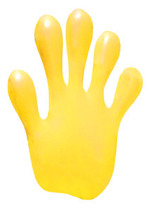 A yellow hand: A yellow hand. Cutout.Please mail me or comment this photo if you liked/used that shot. Thanks!I would be happy to receive the information about picture usage. I would be extremely happy to see the final work even if you think it is nothing special!