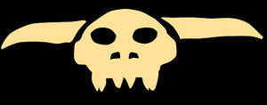 Skull: A horned skull. Please let me know if you decide to use it!