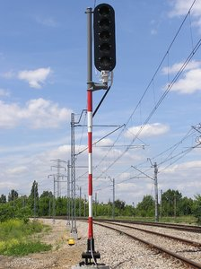 Semaphore: A traffic light for trains.