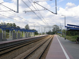 Train station: Just a  train station in Modlin.