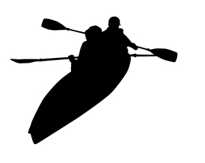 Paddling: Some kayakers.